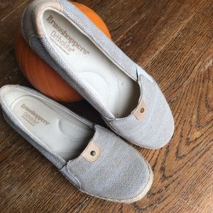 GRASSHOPPERS: Ortholite canvas flats